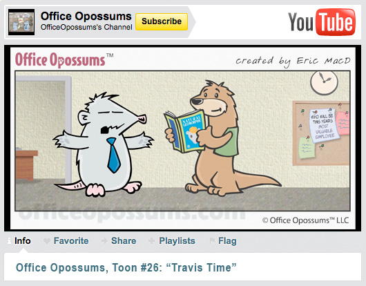 World Premiere Office Opossums Cartoon